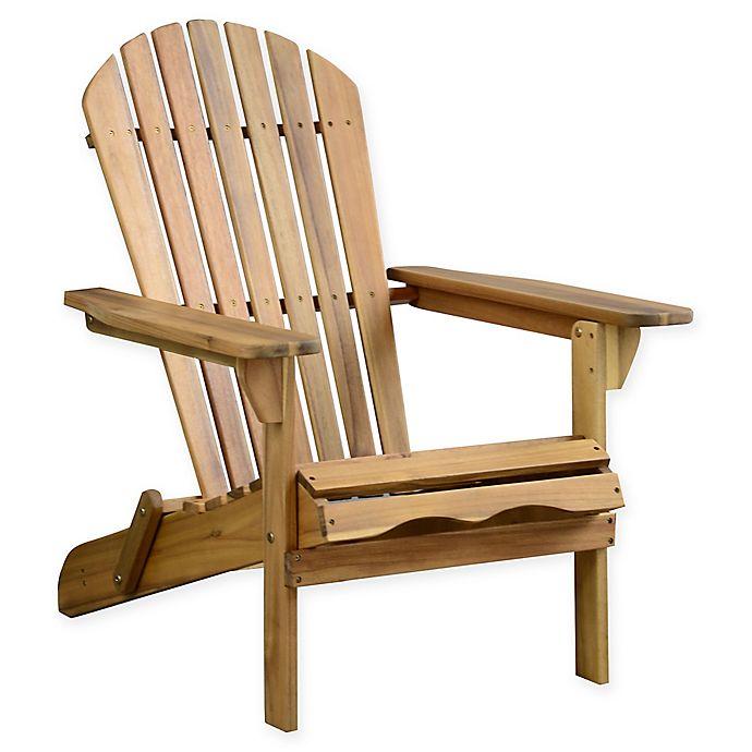 Alternate image 1 for Acacia Wood Adirondack Folding Chair