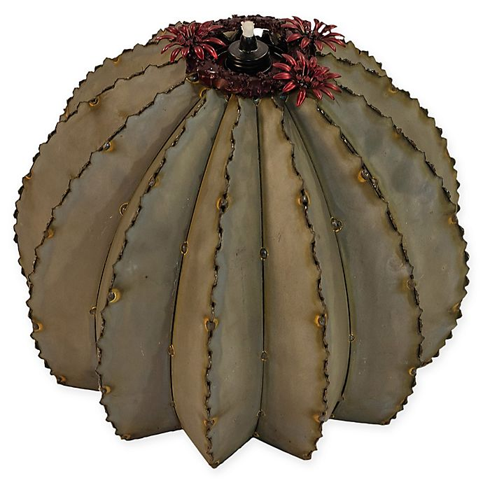 Alternate image 1 for Desert Steel Golden Cactus Steel Garden Torch