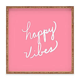 Deny Designs Happy Vibes Rose by Lisa Argyropoulos Serving Tray Collection