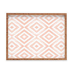 Deny Designs Watercolor Diamonds by Little Arrow Design Co. Serving Tray Collection