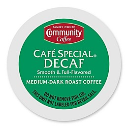 18-Count Community Coffee® Café Special Decaf for Single Serve Coffee Makers
