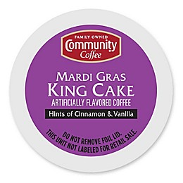 18-Count Community Coffee® Mardi Gras King Cake Coffee for Single Serve Coffee Makers