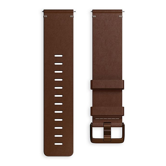 Alternate image 1 for Fitbit® Versa™ Leather Band