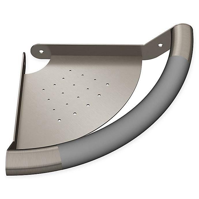 Alternate image 1 for Pulse ShowerSpas 10-Inch Ergo Corner Bar in Brushed Nickel