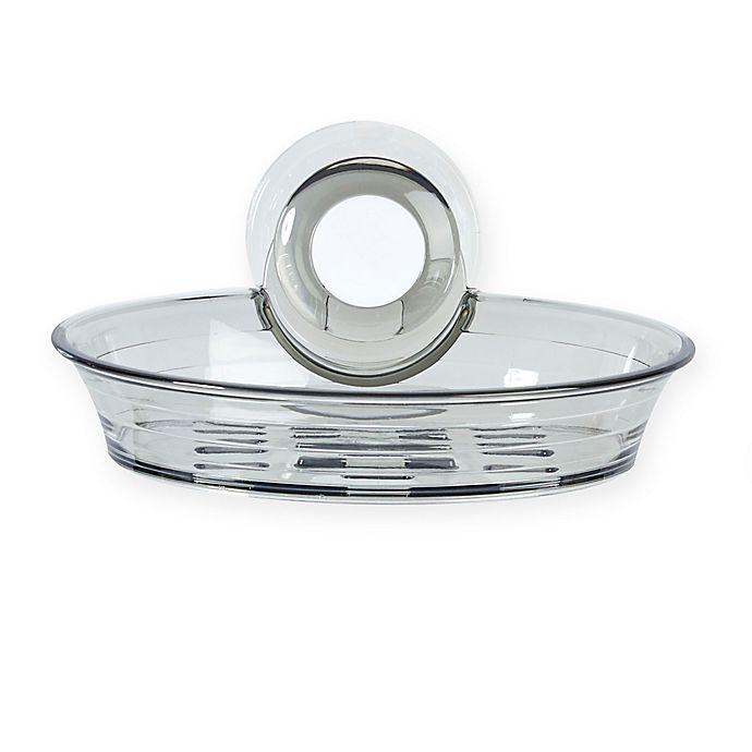 Alternate image 1 for Better Living IMPRESS Shower Suction Soap Dish in Smoke Grey