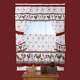 """Achim """"Top of the Morning"""" Kitchen Window Curtain Tier Pair"""