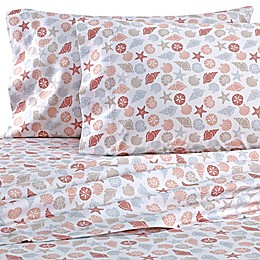 Coastal Life Shells 300-Thread-Count Pillowcases (Set of 2)