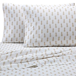 Coastal Life Pineapple 300-Thread-Count Pillowcases (Set of 2)
