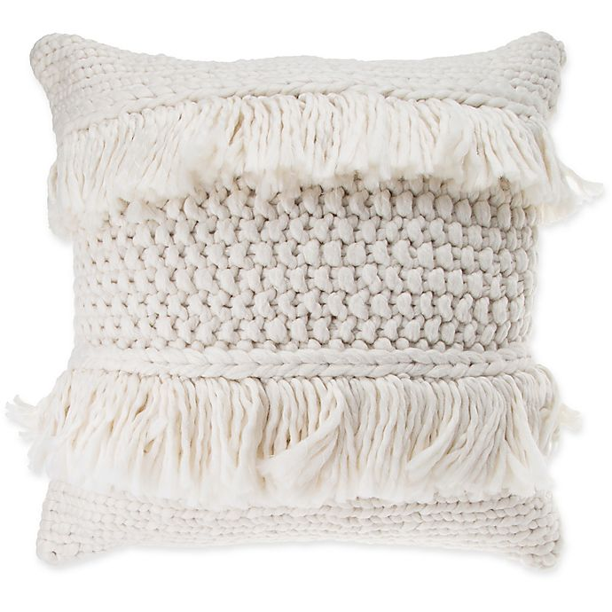 Home Decor Home, Furniture & Diy Unusual Vintage Heavy Cream Throw With Lattice Rope Fringing