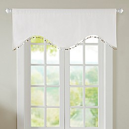 Nautilus Room Darkening Window Valance in White