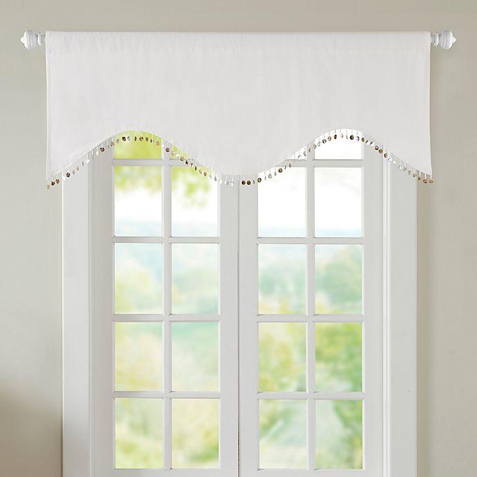 Nautilus Room Darkening Window Valance In White Bed Bath