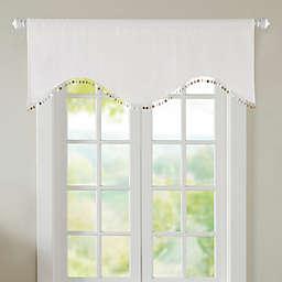 Nautilus Room Darkening Window Valance in White