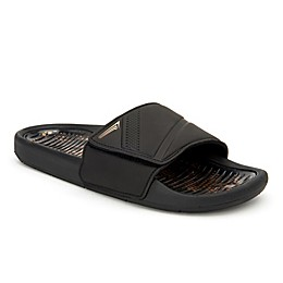 Copper Fit® Men's Gel Slide Sandal in Black