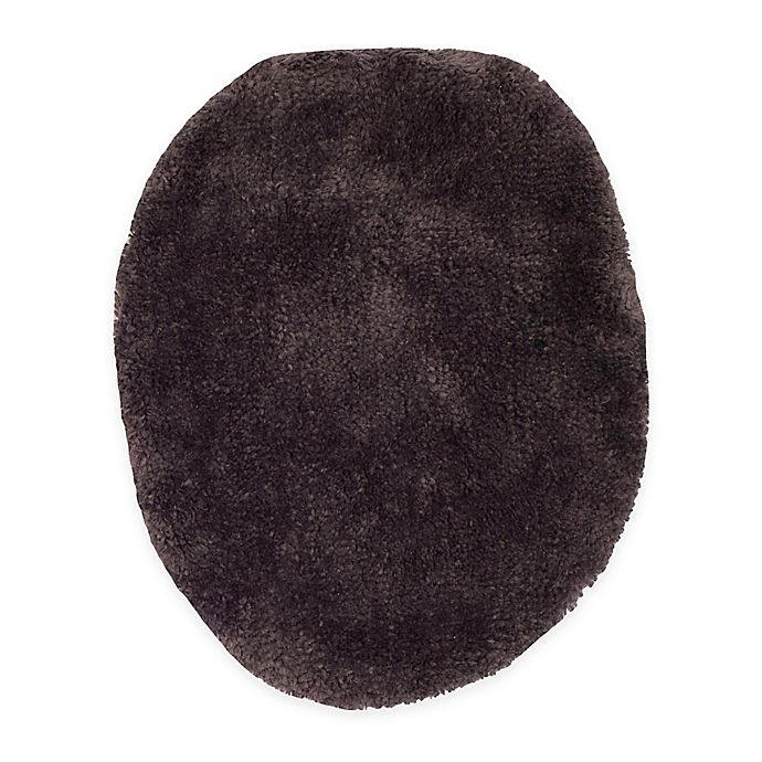 Alternate image 1 for Wamsutta® Ultra-Soft Elongated Toilet Lid Cover in Black Plum
