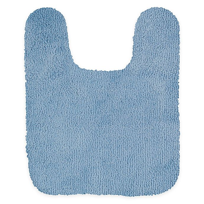 Alternate image 1 for Mohawk Home Legacy 24-Inch x 20-Inch Contour Bath Rug in Light Blue