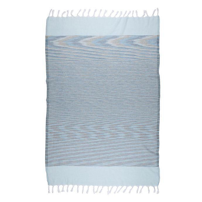 Alternate image 1 for Brielle Pestemal Turkish Cotton Bath Towel in Blue
