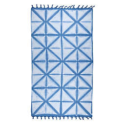 Brielle Pestemal Turkish Cotton Bath Towel in Blue
