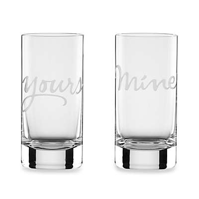 "kate spade new york Two of a Kind™ ""Mine"" & ""Yours"" Highball Glasses (Set of 2)"