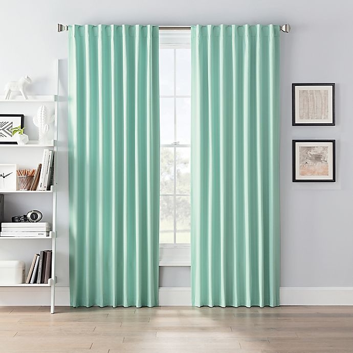 Alternate image 1 for SmartBlock™ Chroma Rod Pocket 100% Blackout Window Curtain Panel