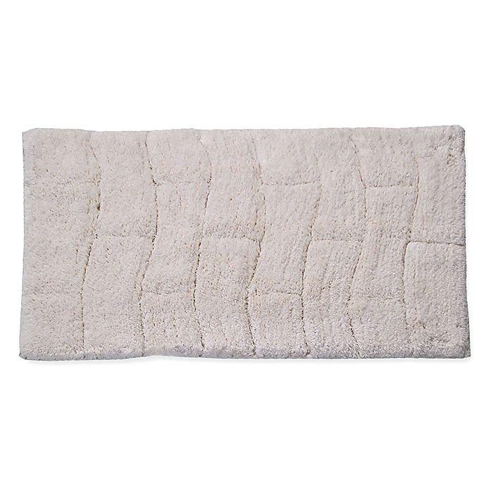 Home Beyond Large Strip Memory Foam Bath Mat Rug Absorbent Bathroom Non-Slip Back Machine Washable Beige 30 X 20