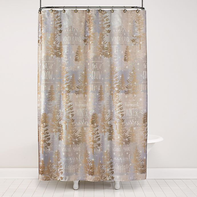 Christmas Shower Curtain.Magic Christmas Shower Curtain Collection Bed Bath Beyond