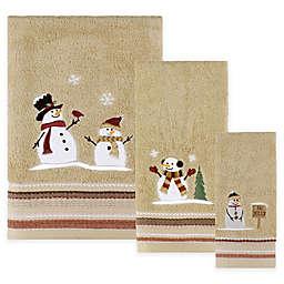 Snow Friends Bath Towel in Wheat
