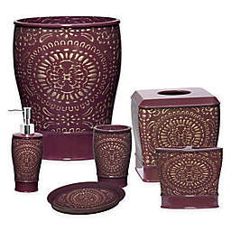 Burgundy Bathroom Accessory Sets Bed