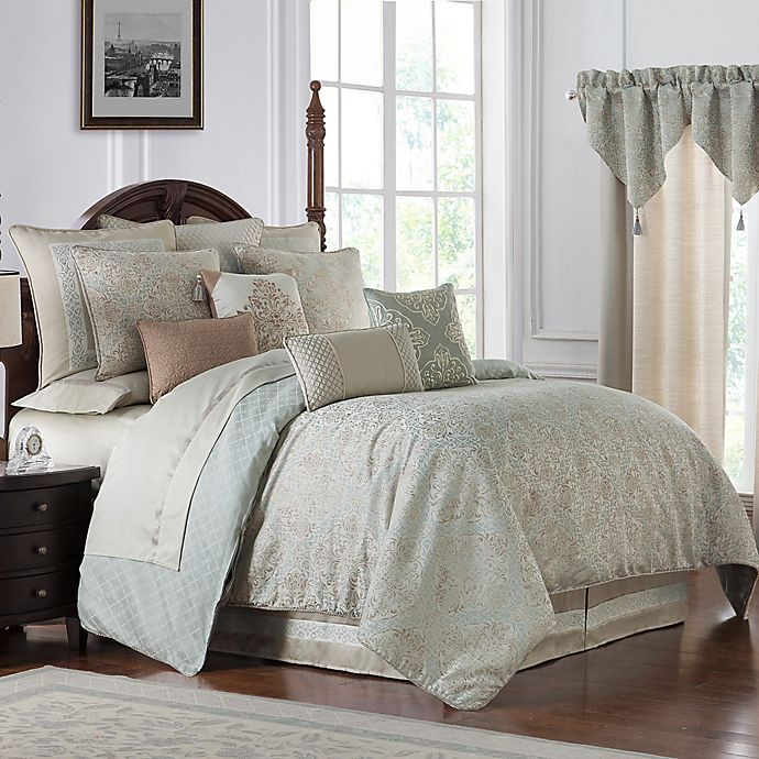 Alternate image 1 for Waterford® Gwyneth Reversible Comforter Set