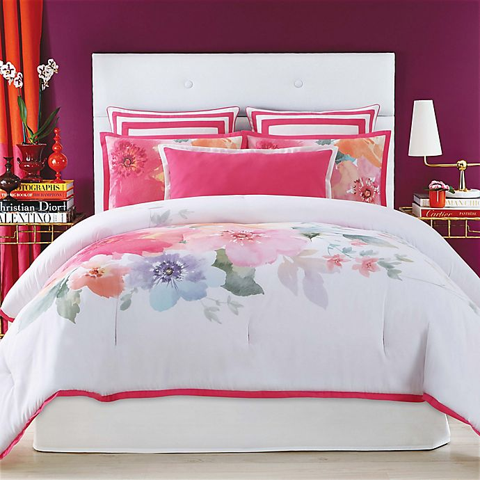 Alternate image 1 for Christian Siriano Bold Floral Full/Queen Comforter Set