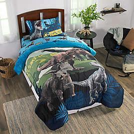 Eruption Twin Bed in a Bag Set Jurassic World Kids Bedding