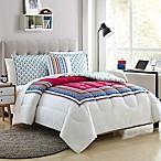 Elephant 4-Piece Reversible Full/Queen Comforter Set in Pink/Teal