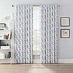 SmartBlock™ Chroma 95-Inch Back Tab 100% Blackout Window Curtain Panel in Grey/White
