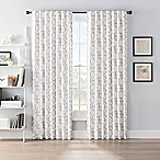 SmartBlock™ Chroma 84-Inch Back Tab Blackout Window Curtain Panel in Tan/White