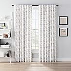 SmartBlock™ Chroma 72-Inch Back Tab Blackout Window Curtain Panel in Tan/White