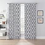 SmartBlock™ Chroma 63-Inch Back Tab Blackout Window Curtain Panel in White/Black