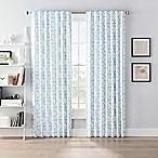 SmartBlock™ Chroma 63-Inch Back Tab Blackout Window Curtain Panel in White/Green
