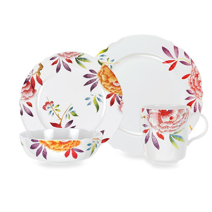 Alternate image 1 for Spode® Lucia Floral 4-Piece Place Setting