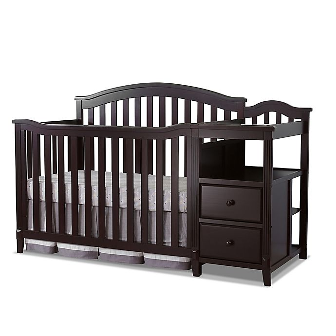 Alternate image 1 for Sorelle Berkley 4-in-1 Convertible Crib and Changer in Espresso
