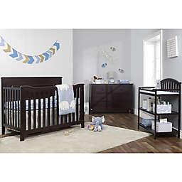 Sorelle Berkley Flat Top Panel Nursery Furniture Collection in Espresso