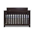 Sorelle Berkley 4-in-1 Convertible Flat Top Panel Crib in Espresso