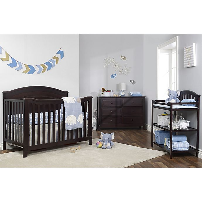 Sorelle Berkley Cloud Top Panel Nursery Furniture Collection In Espresso