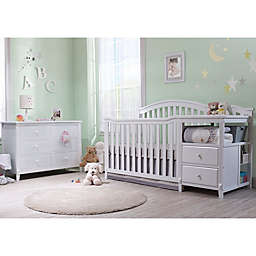 Sorelle Berkley Crib/Changer Nursery Furniture Collection in White