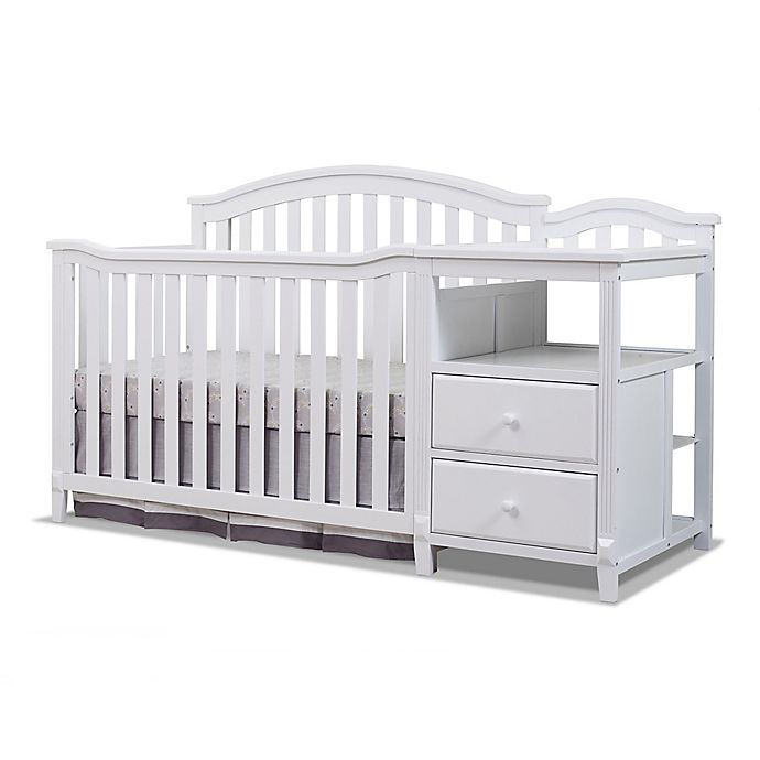Alternate image 1 for Sorelle Berkley 4-in-1 Convertible Crib and Changer in White