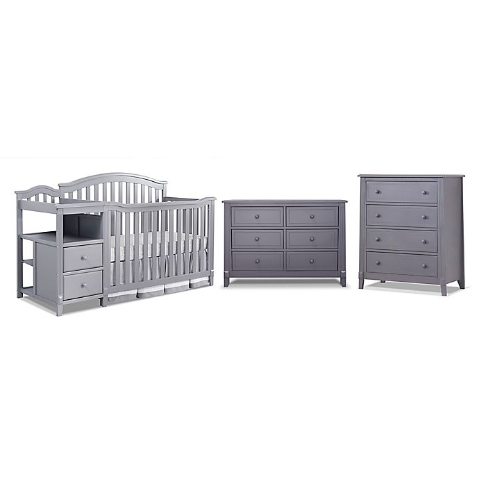 Alternate image 1 for Sorelle Berkley Crib/Changer Nursery Furniture Collection in Grey