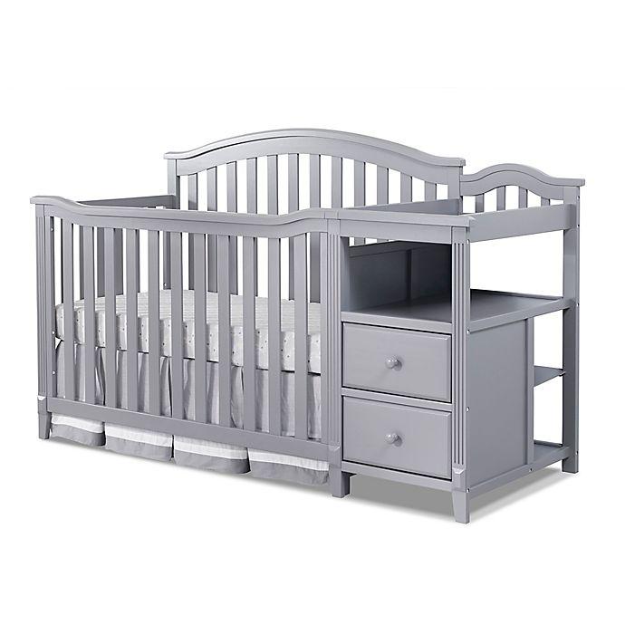 White Sorelle Berkley 4 in 1 Crib and Changer