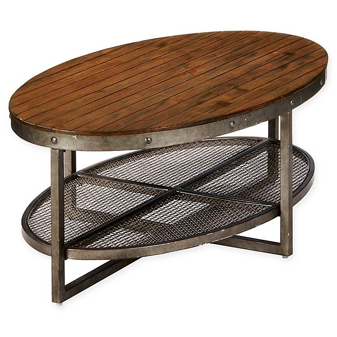 Ink Ivy Sheridan Coffee Table In Chestnut