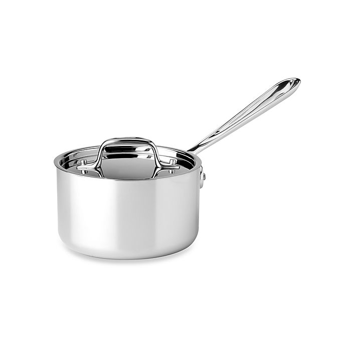 Alternate image 1 for All-Clad Stainless Steel 1 1/2-Quart Covered Saucepan