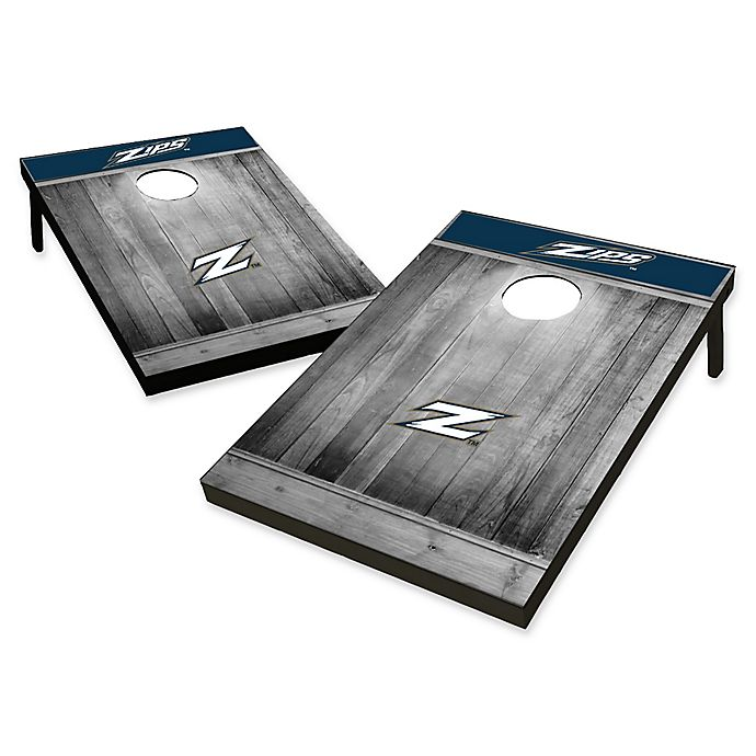 Alternate image 1 for University of Akron Rustic-Look Tailgate Toss Cornhole Set