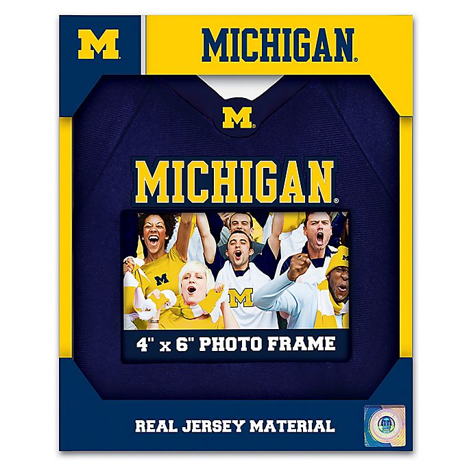 x 6 in NCAA Michigan Wolverines Team Name 4 in Wood Photo Frame