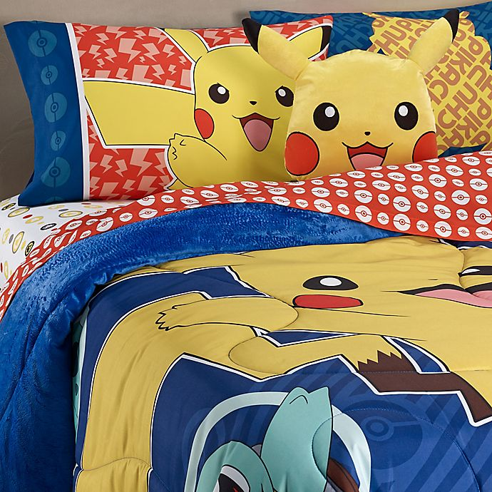 Alternate image 1 for Pokemon Pikachu Reversible Twin/Full Comforter